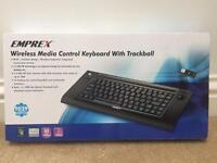 Wireless keyboard with trackball