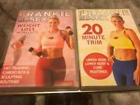 Frankie Essex Weightloss and 20 minute trim Fitness DVDs
