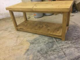 Rough sawn reclaimed coffee table