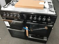 New Graded Flavel 100cm Duel Fuel Range Cooker - Black