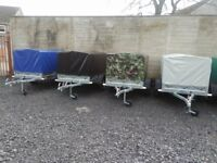NEW Car trailers 6' x 4' WITH COVER FIX PRICE £540 inc vat