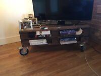 A pallet TV stand