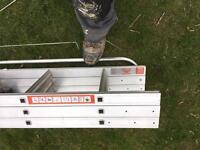Loft ladder young man