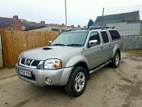 WOW 2004 (54) NISSAN NAVARA OUTLAW MODEL 80K MILES! 1 OWNER FROM NEW! LEATHER SEATS, CANOPY.