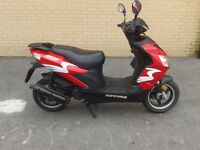 2013 nipponia neon 50cc 2 stroke moped scooter 12 months mot very tidy hpi clear