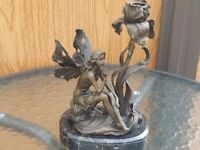 Bronze Fairy candle Stick