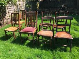 8 Different Wooden Chairs