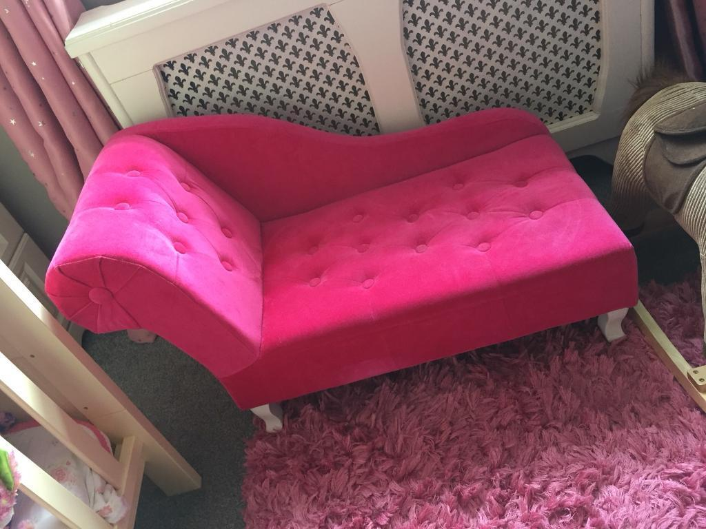 Marvelous Pink Toddler Girls Chaise Lounge Seat Chair Play Room Nursery Very Pretty In Lurgan County Armagh Gumtree Camellatalisay Diy Chair Ideas Camellatalisaycom