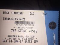Stone roses ticket 110 Ono Glasgow