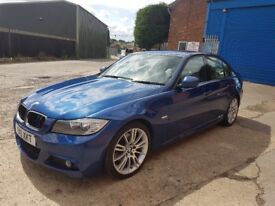 (2010) 10 reg bmw 320d m sport business edition,184 bhp sat nav,i drive,6 speed,le mans blue