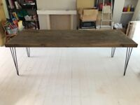 Rustic timber danish style dining table
