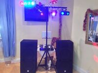 1000W PA System/DJ Setup - Amp, Speakers, Cables