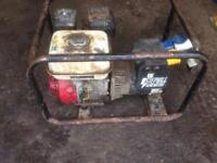 Honda 110v & 240v petrol generator 5.5 gx160 fully working