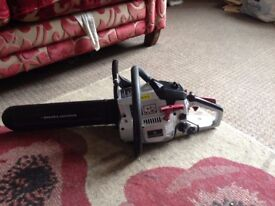 Used Spear & Jackson SPJCS-3740/1 Petrol Chainsaw with All Manuals, Mixing Bottle and Oils