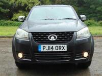 GREAT WALL STEED 2.0 TD CHROME 4X4 DCB 1d 141 BHP LOW MILEAGE ONLY 1 OWNER (black) 2014