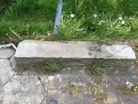 Sandstone lintols/Cils around 1meter in length