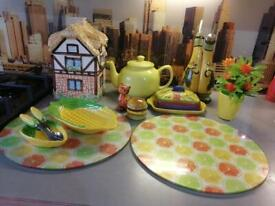 Yellow kitchen set for sale