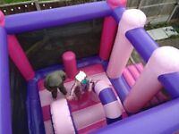 Commercial 10ft X 12.5ft Princess Bouncy Castle - including PIPA Test, Blower, Pegs, Cover & Mat