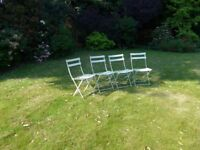4 metal Patio chairs in excellent condition. £40