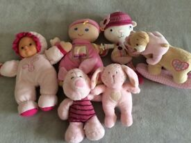 Selection Of Soft Plush Baby Toys