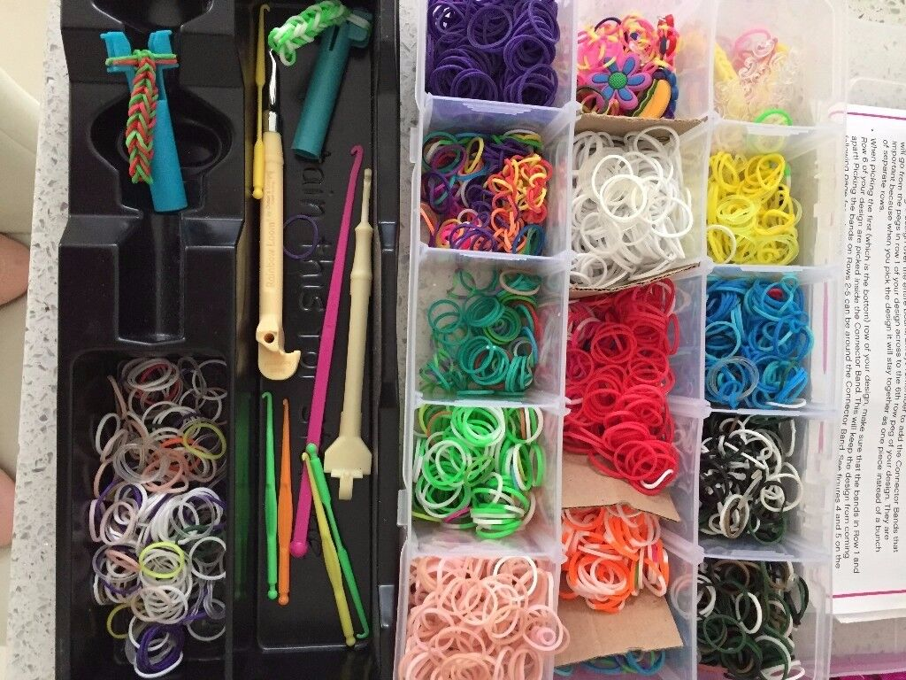 Bundle of loom bands, looms, packets etc - great Christmas present! £20 worth a lot more!!!