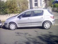 Peugeot 307 1.4 hdi desiel 30 pounds road tax mot mar 18 great condition