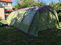Vango Airbeam shangri-la inflatable 6 person tent superior poly cotton in fabulous clover green