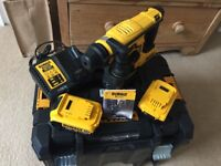 Dewalt 18v sds drill brand new with charger, 2x4 mhp and box