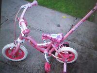 Girls first two wheeler bicycle 2/3yrs