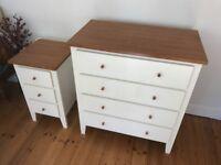 Shaker Style White/Cherry Veneer Bedroom Furniture Suite