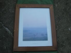 Large Wooden Picture Frame with Glass Over for £8.00