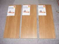 A set of 3 NEW matching Floating Wall Shelves 60 x 23.5cm approx