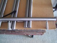 Cupboard door Handles. Brushed stainless steel