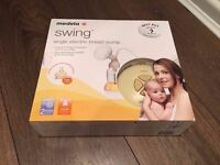 BRAND NEW SEALED & UNOPENED - Medela Swing Electric Breast Pump, Pump & Save Bags and Spare Teats