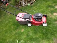 Mountfield self propelled petrol lawn mower. In good working order.