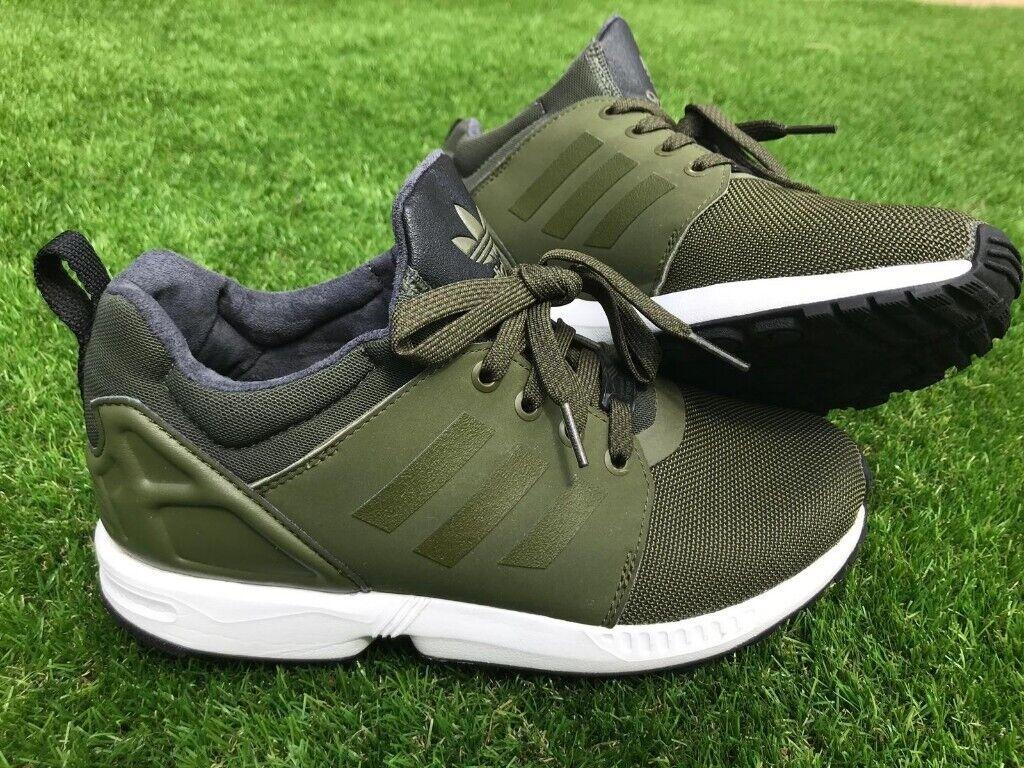 huge selection of 087cf 2abeb Adidas ZX Flux kharki green trainers size UK 5.5 | in Pentwyn, Cardiff |  Gumtree