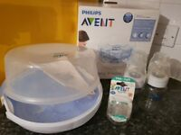 Philips Avent Microwave Steriliser and Bottles