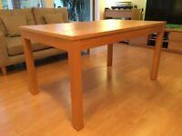 IKEA Oak dinning table. Extendable.