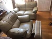 2 seater sofa with recliner arm chair