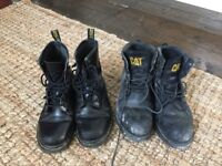 Dr Martens & CAT steel toe work boots size 5