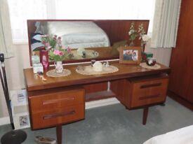 G-plan vintage fresco teak bedroom furniture