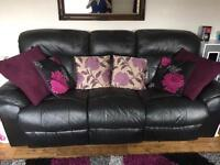 3 & 2 seater leather sofa