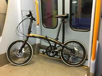 Folding travel bike