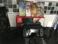 Nintendo switch with 4 games