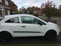 Vauxhall CORSA, 3 Door White Hatchback 2007