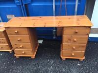 Pine desk / dressing table