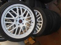 "18"" TEAM DYNAMICS ALLOY WHEELS / TYRES - FORD CONNECT / FOCUS / MONDEO"