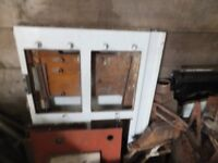 White two oven gas fired AGA oven dismantled ready for collection in need of refurbishment