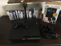 Sony PS3 320gb 27games 2 pads 2 microphones
