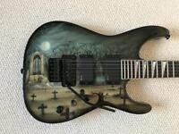 Jackson USA DK1 Dinky with Graveyard Airbrush Graphic ( Mint)